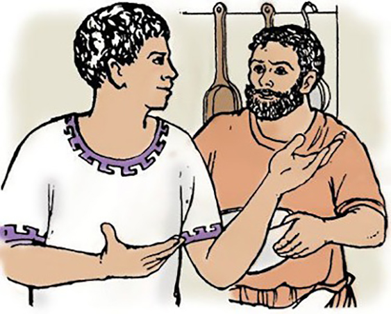 Quintus asking Grumio a question